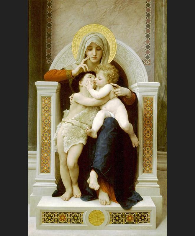 William Bouguereau the Baby Jesus and Saint John the Baptist