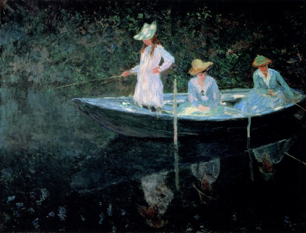 Claude Monet In The Rowing Boat