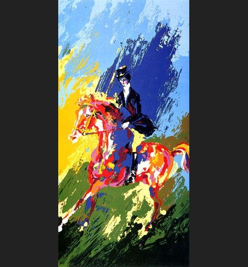 Leroy Neiman The Equestrianne
