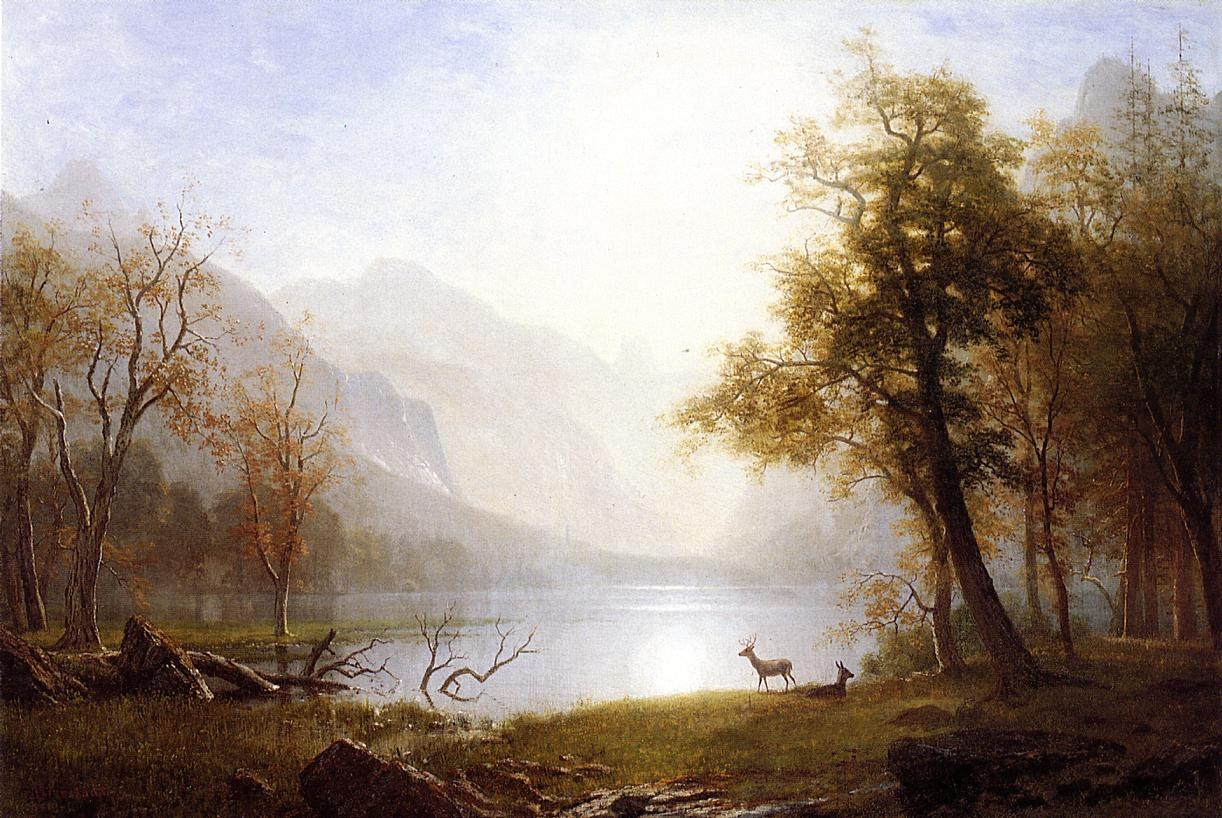 Albert Bierstadt Valley in Kings Canyon