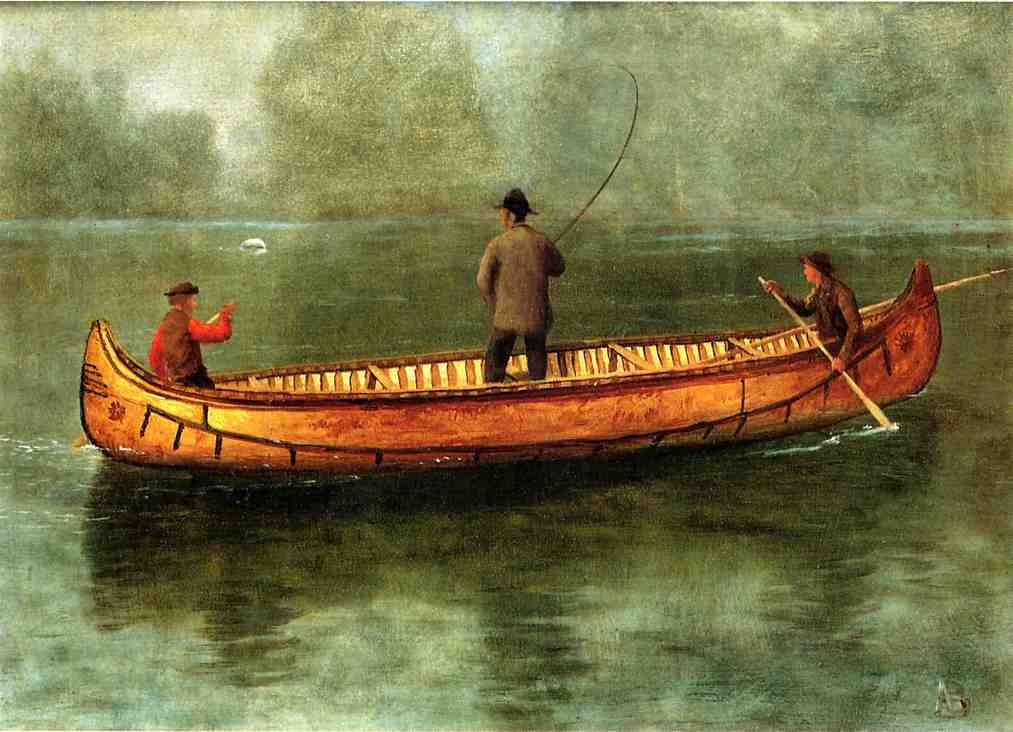 Famous Painting Canoe River Men