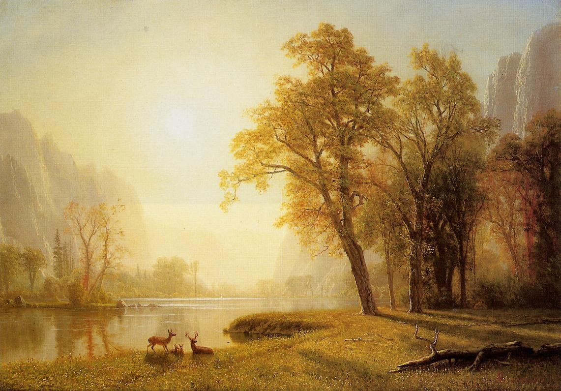 Albert bierstadt kings river canyon california painting for Prints of famous paintings for sale
