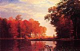 Albert Bierstadt Autumn Woods painting