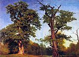 Albert Bierstadt Pioneers of the Woods painting