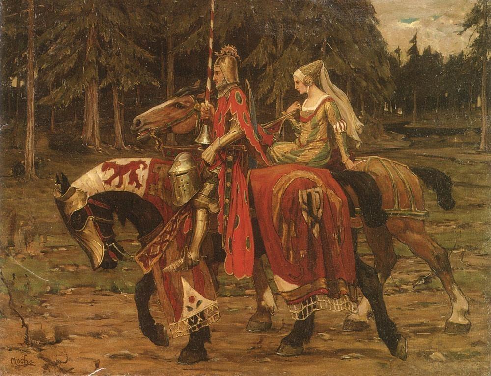 Alphonse Maria Mucha Mucha Heraldic Chivalry Painting ...