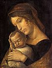 the kiss (le baiser _ il baccio) Paintings - Madonna with Sleeping Child
