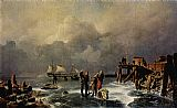 Andreas Achenbach Ufer des zugefrorenen Meeres painting