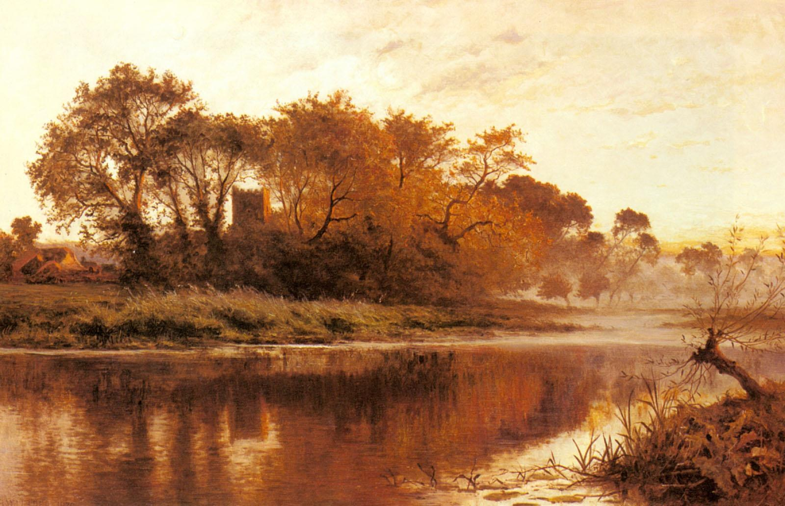 Benjamin Williams Leader The Last Gleam, Wargrave on Thames