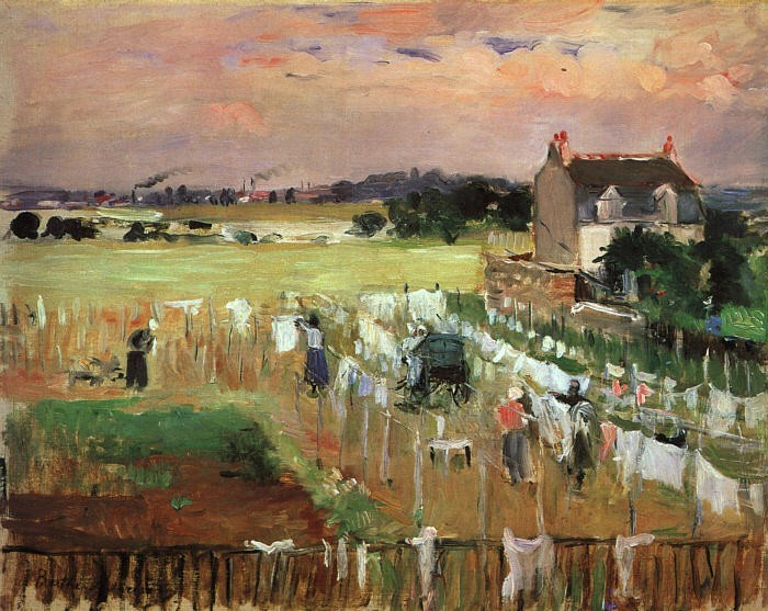 Berthe Morisot Hanging out the Laundry to Dry