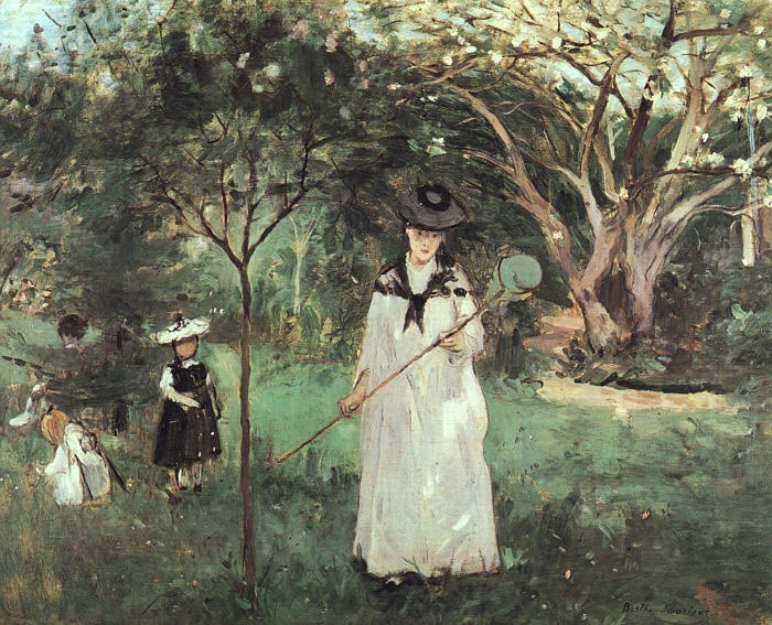 Berthe Morisot The Butterfly Chase