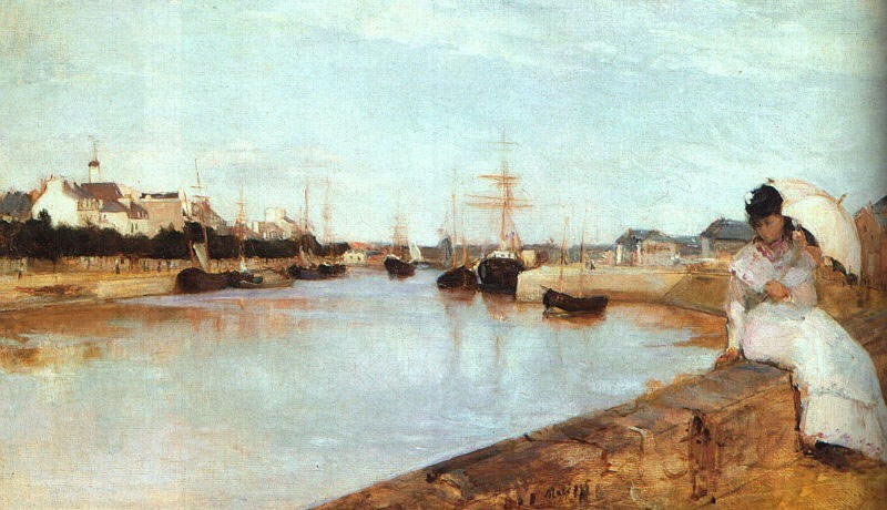 Berthe Morisot The Harbor at Lorient