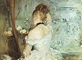 Berthe Morisot A Woman at her Toilette painting