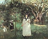 Berthe Morisot The Butterfly Chase painting