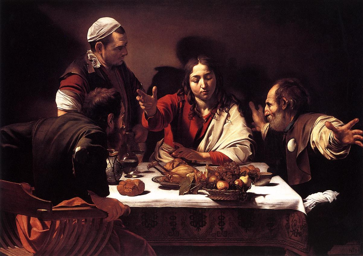 Caravaggio The Supper at Emmaus
