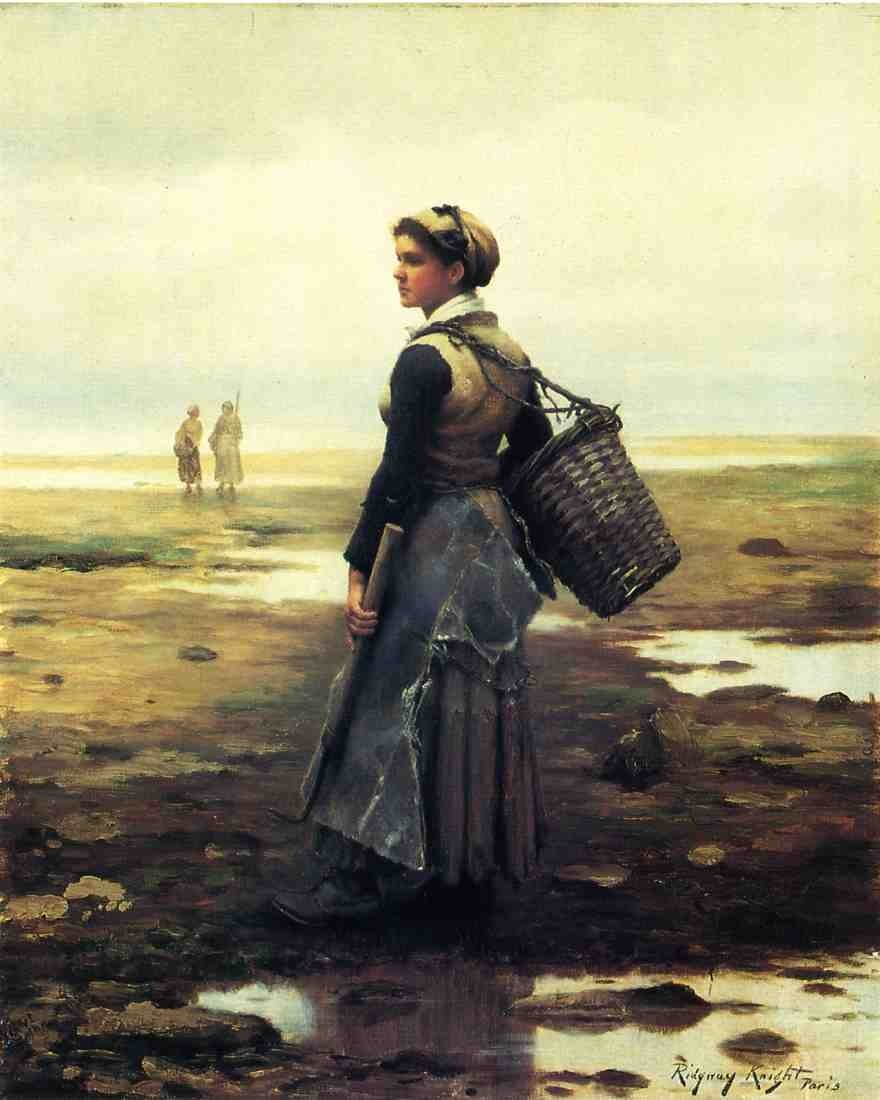 Daniel Ridgway Knight Knight Clamming