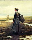 Daniel Ridgway Knight Knight Clamming painting