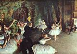 Ballet paintings - Rehearsal on the Stage by Edgar Degas