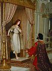 Edmund Blair Leighton The King and the Beggar-maid painting
