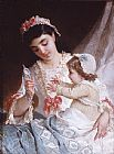 Emile Munier Distracting the Baby painting