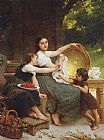Emile Munier Les Confitures painting