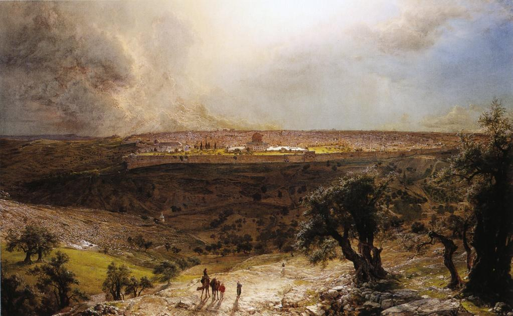 Frederic edwin church jerusalem from the mount of olives for Frederick church paintings