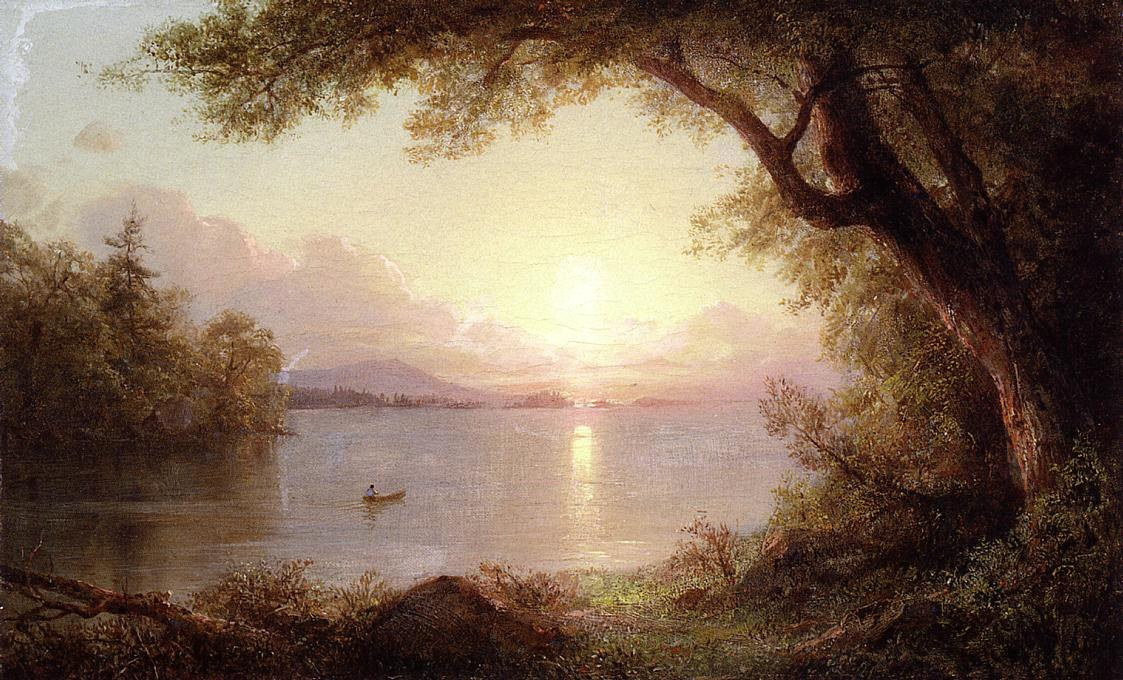 Frederic Edwin Church Landscape in the Adirondacks