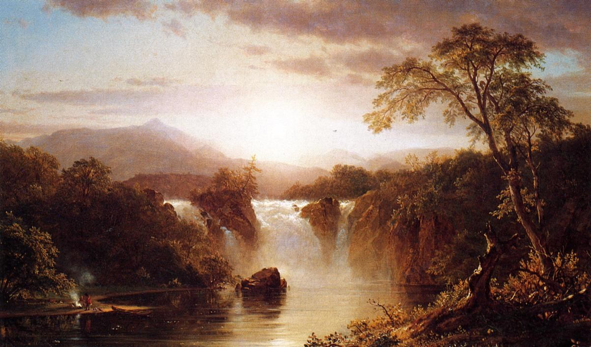 Frederic Edwin Church Landscape with Waterfall