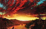 Frederic Edwin Church Twilight in the Wilderness painting