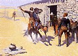 Hunting paintings - The Apaches by Frederic Remington