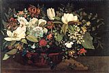 Gustave Courbet Basket of Flowers painting