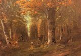 Gustave Courbet Forest in Autumn painting