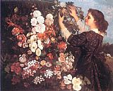 Gustave Courbet The Trellis painting