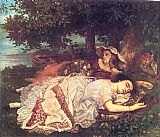 Gustave Courbet The Young Ladies on the Banks of the Seine painting