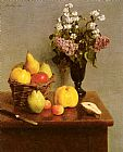 Henri Fantin-Latour Still Life With Flowers And Fruit painting