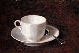 Henri Fantin-Latour White Cup And Saucer painting