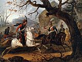 Horace Vernet Napoleonic battle in the Alps painting