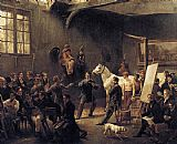 Horace Vernet The Artist's Studio painting