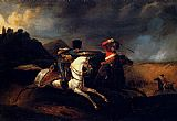 Horace Vernet Two Soldiers On Horseback painting