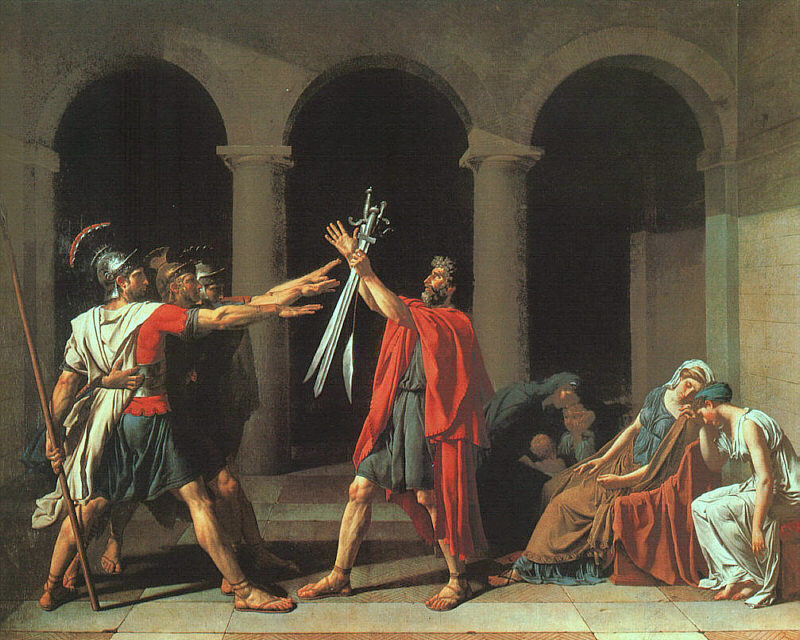 Jacques-Louis David The Oath of the Horatii