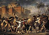 Jacques-Louis David The Intervention of the Sabine Women painting