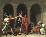 Jacques-Louis David The Oath of the Horatii painting
