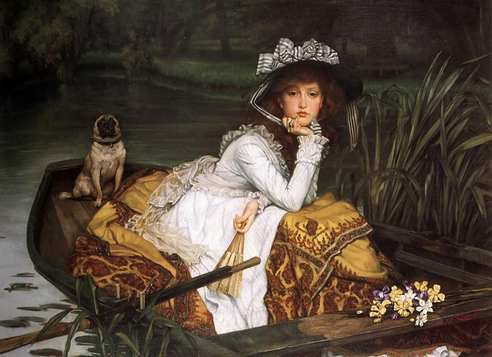 James Jacques Joseph Tissot Young Lady in a Boat