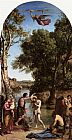 Jean-Baptiste-Camille Corot The Baptism of Christ painting