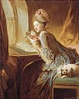 Jean-Honore Fragonard The Love Letter painting