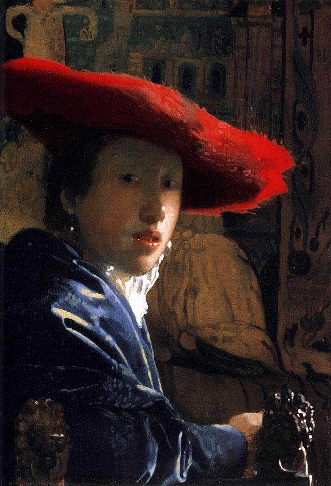 Johannes Vermeer Girl with a Red Hat