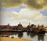 Johannes Vermeer View Of Delft painting