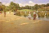John Singer Sargent A Morning Walk painting