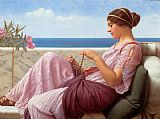 John William Godward Godward A Souvenir painting