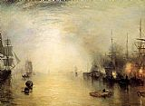 Joseph Mallord William Turner Keelmen heaving in coals by night painting
