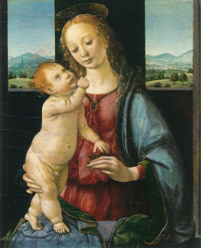 Leonardo da Vinci Madonna and Child with a Pomegranate
